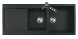 Sinks Sinks AMANDA 1160 DUO Metalblack + Sinks MIX 3 P - 74 Metalblack