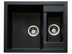 Sinks Sinks CRYSTAL 615.1 Metalblack + Sinks CAPRI 4 S - 74 Metalblack