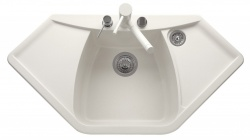 Sinks Sinks NAIKY 980 Milk + Sinks CAPRI 4 S - 28 Milk